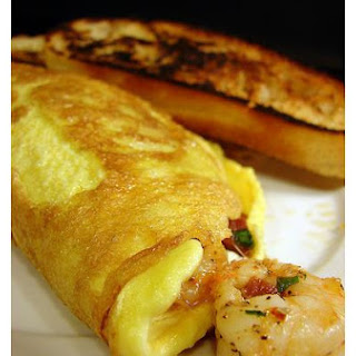 Spanish Chorizo and Shrimp Omelette