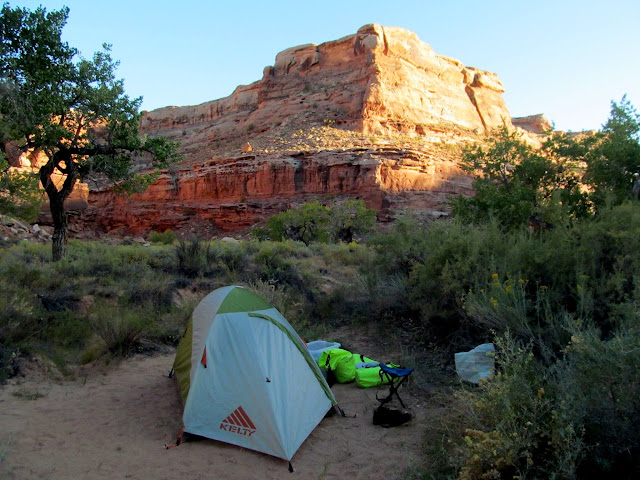 My camp at F Canyon