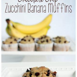 Chocolate Chip Zucchini Banana Muffins Recipe!