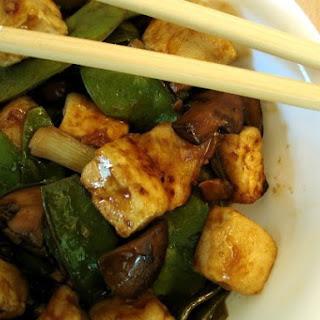 Tofu Stir-Fry with Snap Peas and Mushrooms.