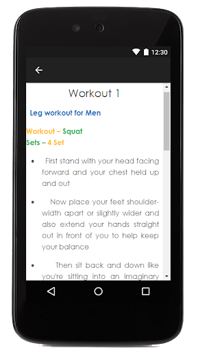 Men Leg Workout Guide Screenshot 3
