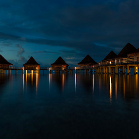 Don't wake the honeymooners by Rebecca Ramaley - Buildings & Architecture Office Buildings & Hotels ( desert, #tahiti #holiday #vacation #bungalow )