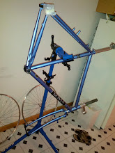 Photo: Bare Frame with headset pressed and fork mounted.