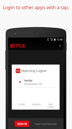 Screenshot 3 for LastPass's Android app'