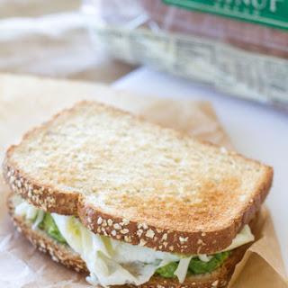 Egg White and Avocado Breakfast Sandwich.