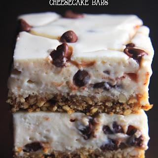 Skinny Chocolate Chip Pretzel Cheesecake Bars