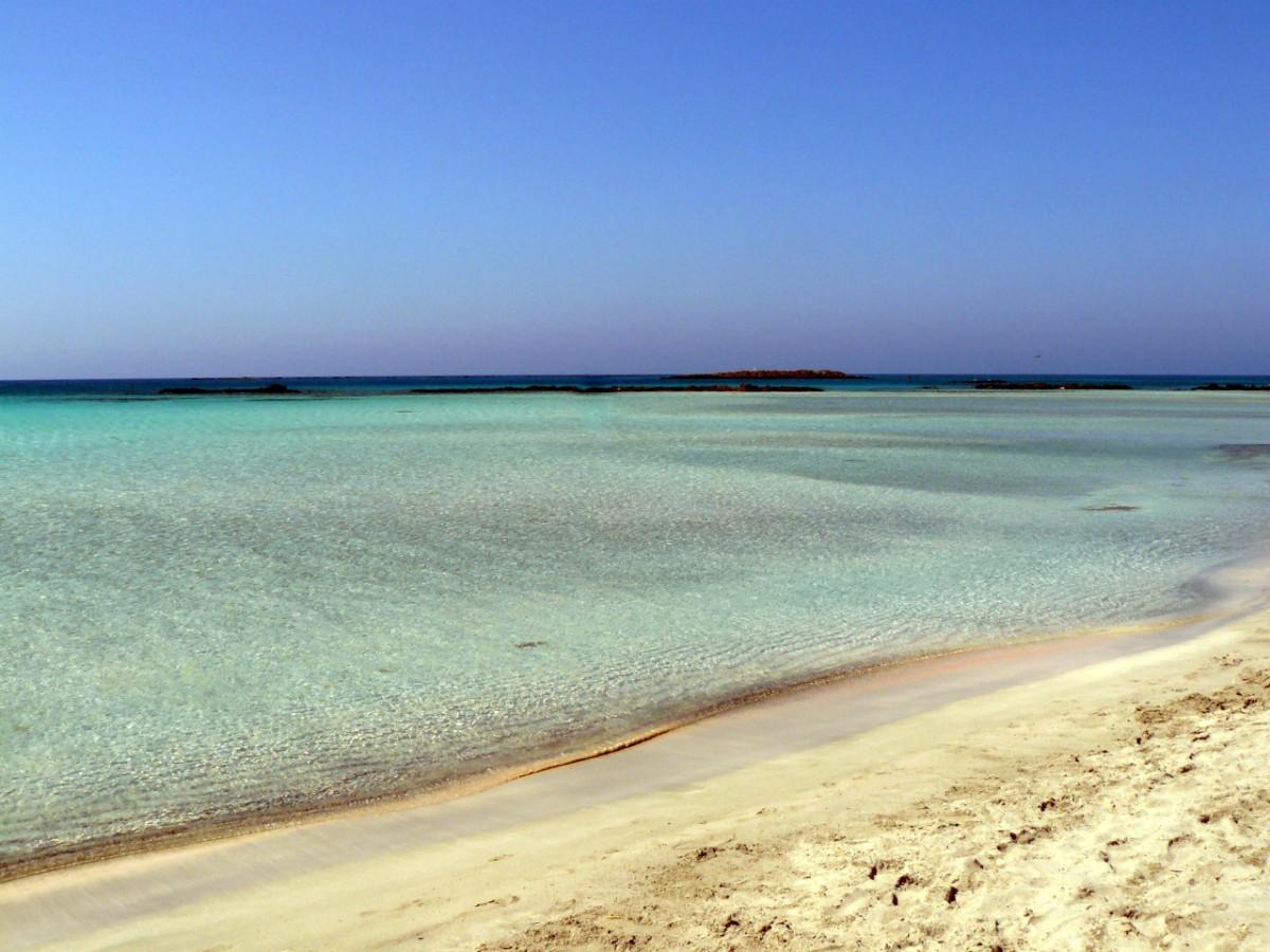 Spiaggia Elafonissi Creta, Elafonissi Beach Crete