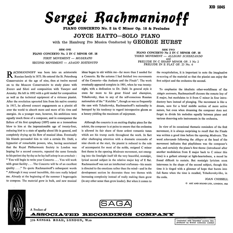 George Hurst, Joyce Hatto, Sergei Rachmaninoff