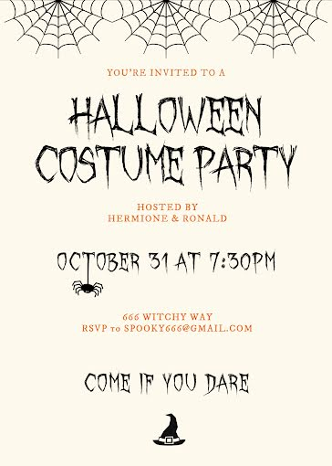 Halloween Costume Party - Halloween Template