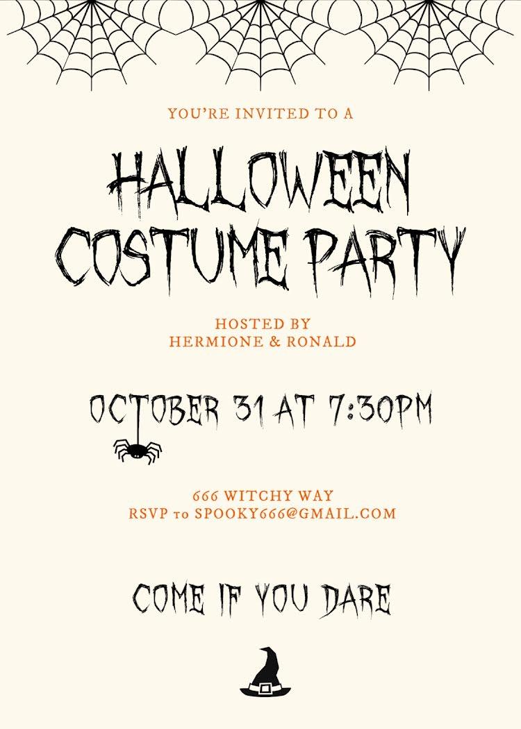 Halloween Costume Party - Halloween Template