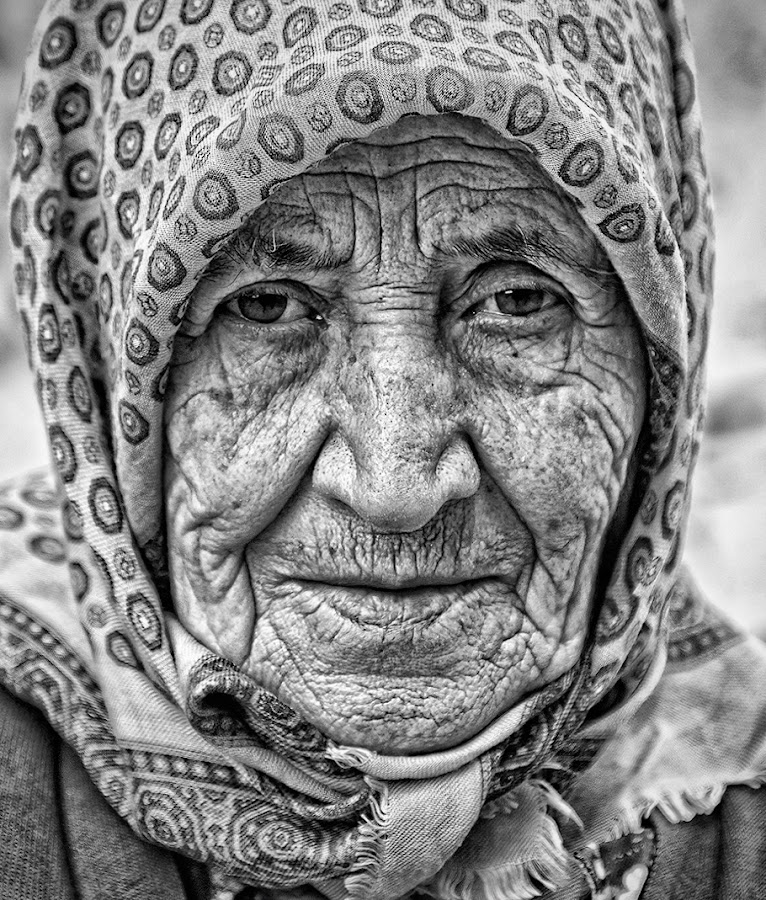 Old Woman by Albert Pich - People Portraits of Women