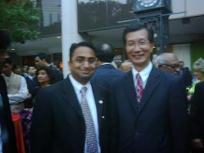 Photo: Husain (L) withHon. Michael Chan  http://canadaindiaeducation.com/introduction/media-outreach