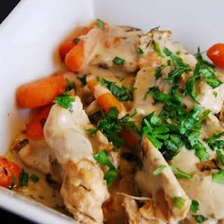 Creamy Slow Cooker Tarragon Chicken.