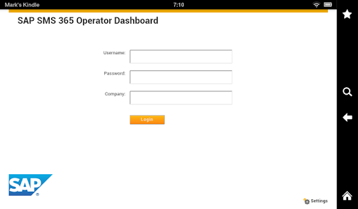 SAP SMS 365 Operator Dashboard