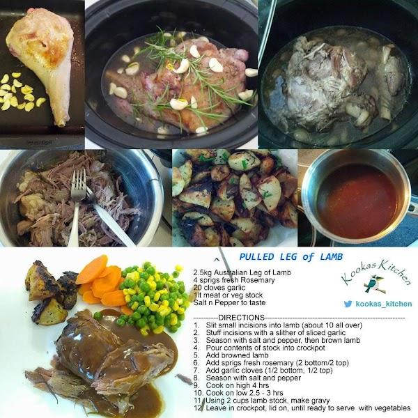 Aussie Pulled Leg Of Lamb (crockpot) Recipe