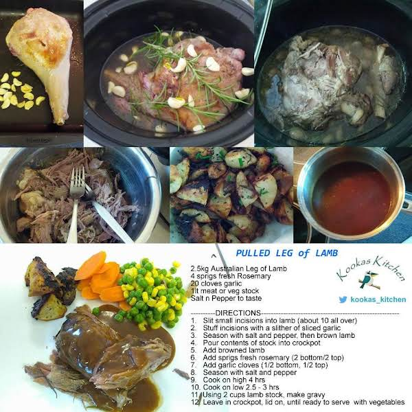 Aussie Pulled Leg Of Lamb (crockpot) Recipe