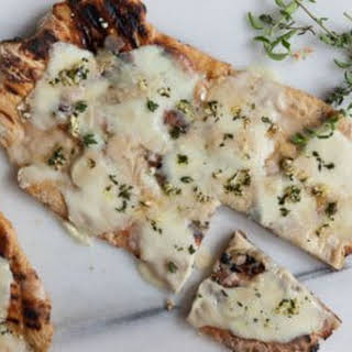 Grilled Pizzas with Mozzarella and Parigiano Reggiano.