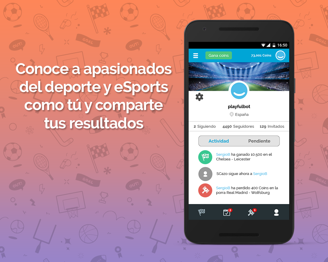 Playfulbet App: captura de pantalla