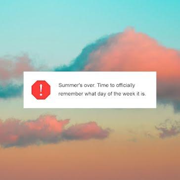 Summer's Over - Instagram Post template