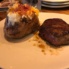Filet and a baked potato minus chives. SO good!