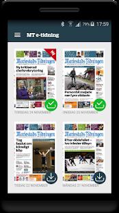Mariestads-Tidningen e-tidning - náhled