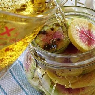 Sweet Hot Pickled Radishes.