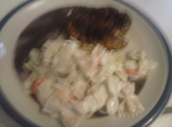 Easy Crab Alfredo With A Side Kicker Pork  For Recipe 2