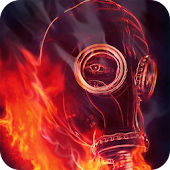 Mask on fire Live Wallpaper
