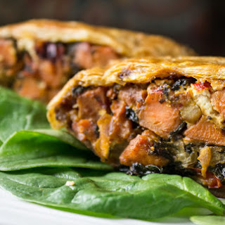 Savory Vegetable Strudel With Goat Cheese.