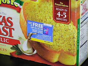 Photo: On the box of New York Texas Toast, there is a coupon for free candy!