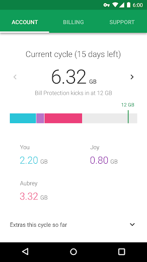 Screenshot 4 for Project Fi's Android app'