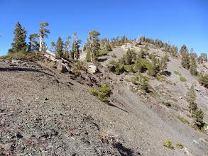 Photo: View north back toward Dawson Peak from its south ridge