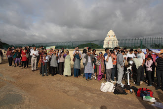 Photo: People wating under the clouds to see ToV...