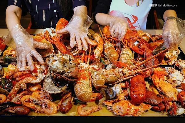 紅唇蟹 KISS CRAB 美式手抓海鮮。痛風不要看、超狂海鮮豪邁放手吃!帝王蟹足、波士頓龍蝦、霸王蟹,近15種霸氣海鮮讓你吃爽爽!