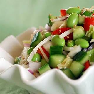 Edamame Salad with Rice Vinegar Vinaigrette.