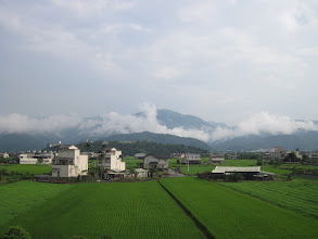 Photo: I-lan, rice paddy and mountains.  Very scenic part of Taiwan.