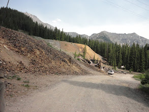 Photo: Lots of ore was processed here.  Beatiful summer day in June but winter would be something else.