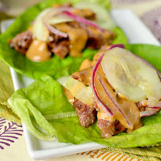 Thai Steak Lettuce Wraps.