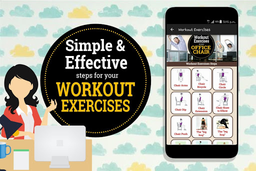 Easy Workout Exercises on your Office Chair 1.3 screenshots 2