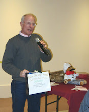 """Photo: Announcing the winner of the Dell'Amore """"singing chef."""""""