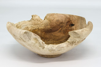 "Photo: Bill Long 6"" x 2 1/2"" bowl [European linden burl]"