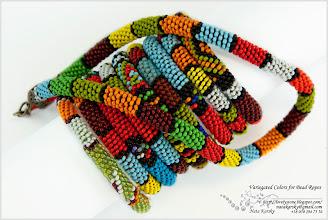 Photo: Variegated Colors for Bead Ropes - Кольорове розмаїття айстр та в'язаних джгутів