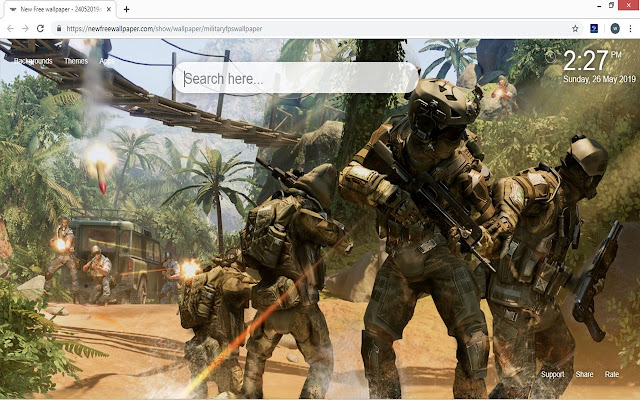 Military FPS Game Wallpaper HD New Tab Themes