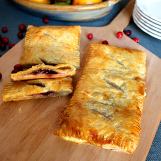 Turkey Cheese and Cranberry Puff Pastry.