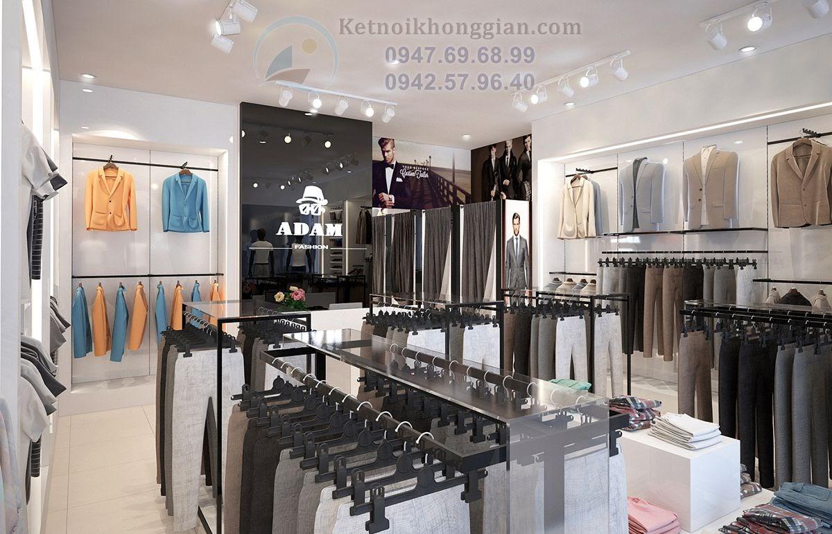 thiết kế shop thời trang nam hiện đại, cao cấp