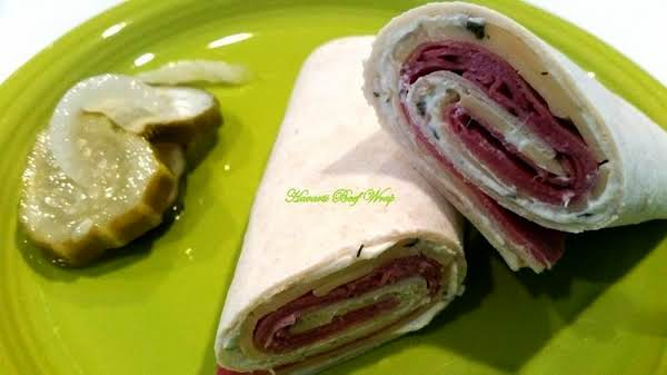 ~ Havarti Beef Wrap W/ Horseradish Spread ~ Recipe