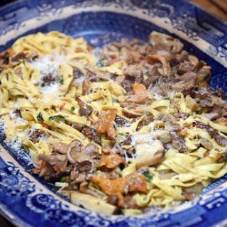 Tagliatelle with Wild Mushrooms.