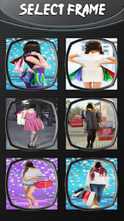 Nakupování ženy fotomontáž - náhled