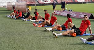 Los jugadores, listos para debutar contra el CD Lugo.