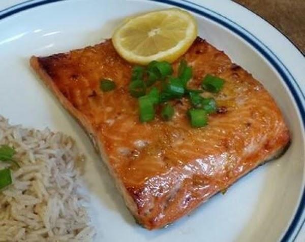 Roasted Salmon With Soy-marmalade Glaze Recipe